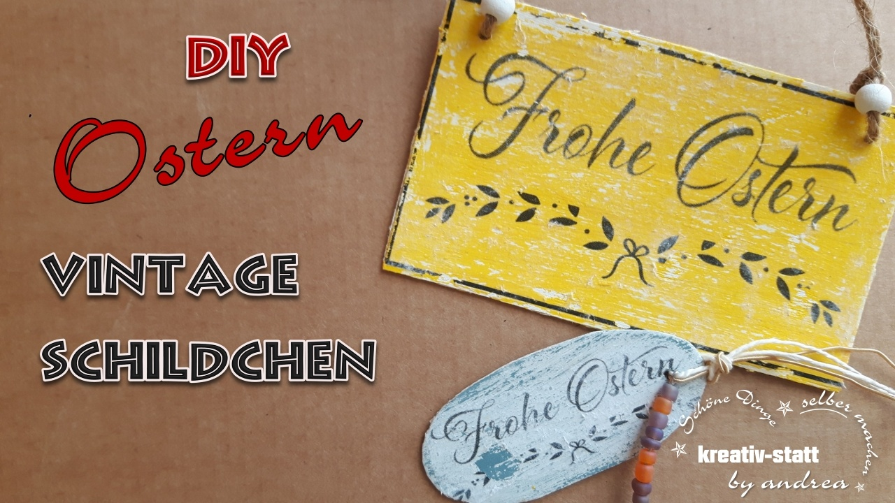 diy basteln f r ostern kleine vintage schildchen eitketten labels aus holz. Black Bedroom Furniture Sets. Home Design Ideas