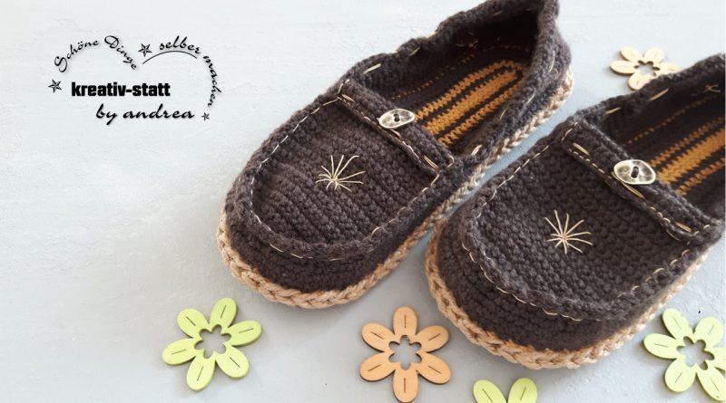 DIY Häkeln Espadrilles – Mokassins, Loafer mit Outdoor-Sohle – Anfängerinnen