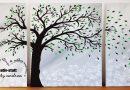DIY Malen Acryl – Baum im Wind – einfach und modern – How To