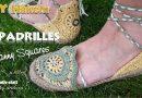 DIY Häkeln Espadrilles – Sandalen mit Granny Squares und Jute Sohle