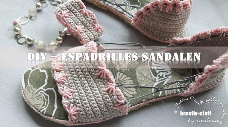 DIY Espadrilles – Gehäkelte Sandalen mit Outdoor Sohle aus Sisal