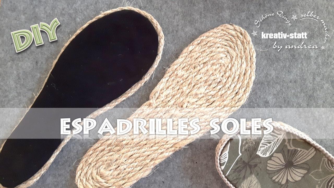 DIY Espadrilles – Sohlen mit Seil aus Jute oder Sisal [Wie man] – Tutorial