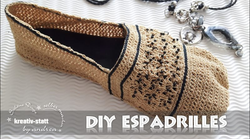 diy h keln espadrilles im edlen look mit perlen anleitung kreativstattandrea diy sch ne. Black Bedroom Furniture Sets. Home Design Ideas