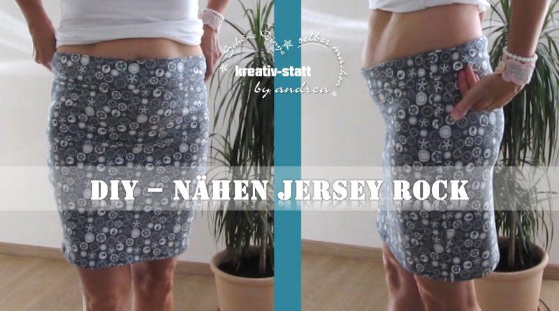 DIY Nähen – Jersey Rock ohne Schnittvorlage – Wie man – Ideal für Anfängerinnen