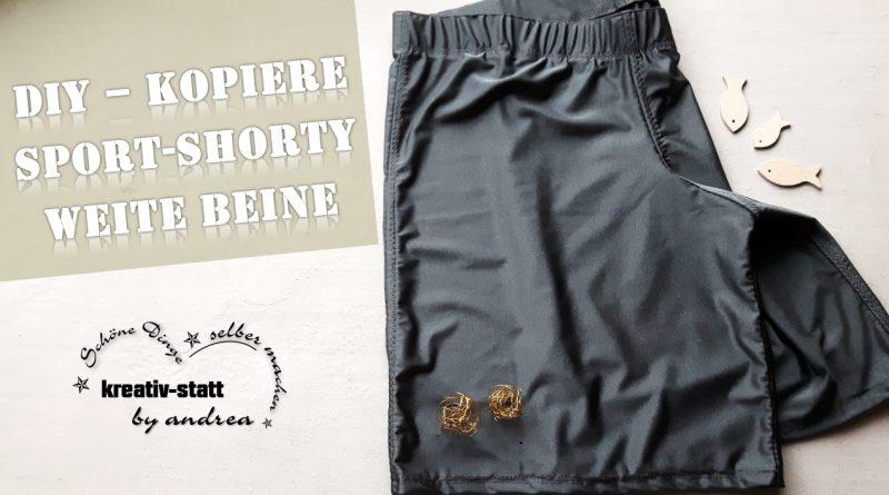 DIY Nähen – Sport Shorty – Wie man eine Laufhose kopiert