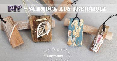 DIY Schmuck – Anhänger aus Treibholz für Ketten basteln – Wie man