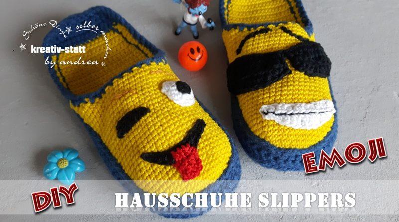 Diy Häkeln Emoji Smilies Hausschuhe Pantoffeln Kostenlose