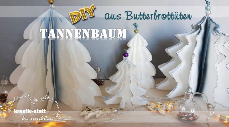 DIY Deko – Tannenbäume aus Papier, Butterbrottüten basteln [Wie man]