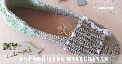 DIY ESPADRILLES – Gehäkelte Ballerinas Schuhe in Lederoptik mit Jutesohle
