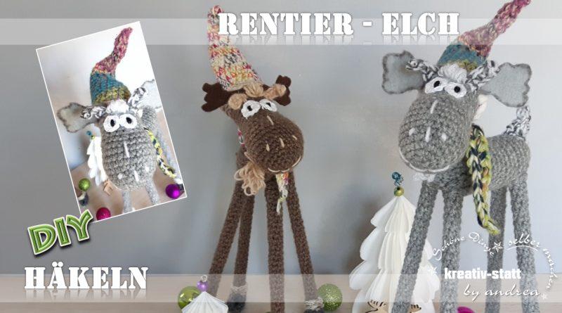 diy h keln lustiges rentier elch mit langen beinen und wichtelm tze anleitung wie man. Black Bedroom Furniture Sets. Home Design Ideas