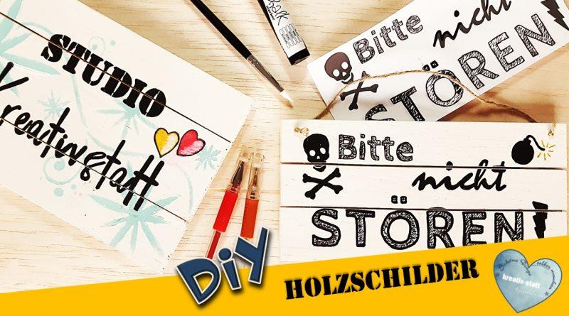 DIY – Holzschilder mit Handlettering Schrift selber machen