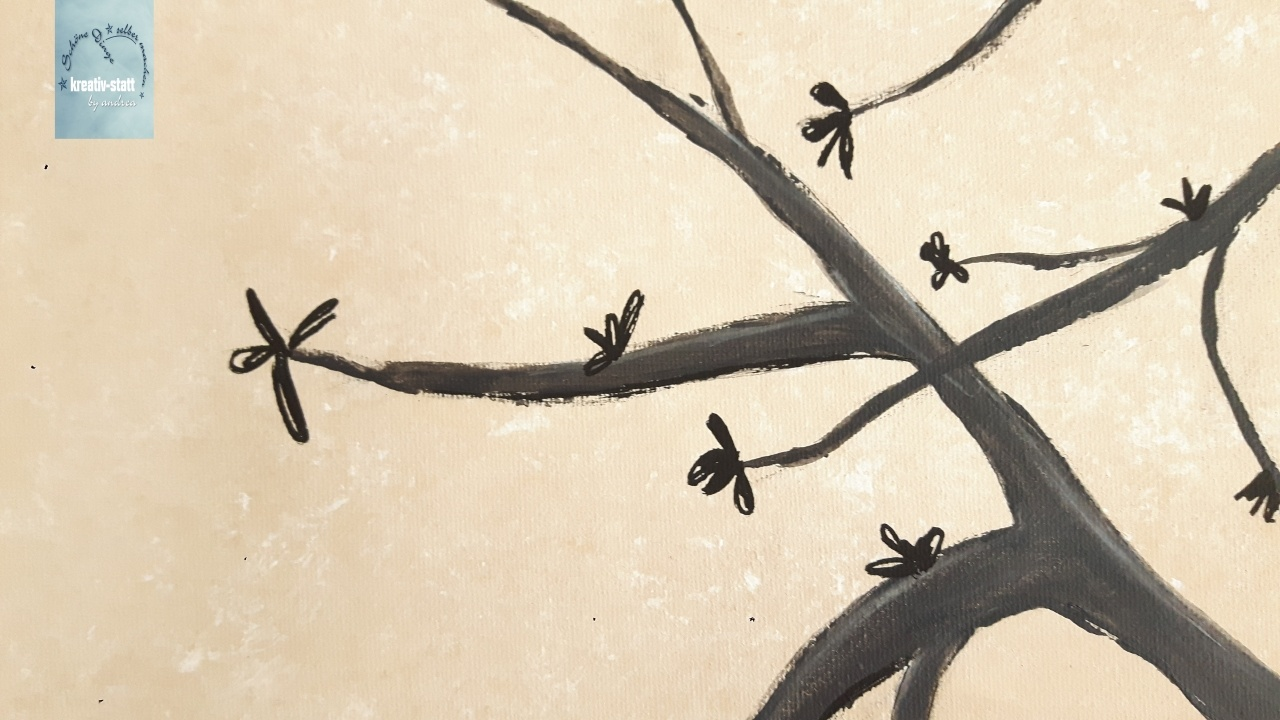 Diy Malen Acryl Baum Für Partyspiel Hintergrund