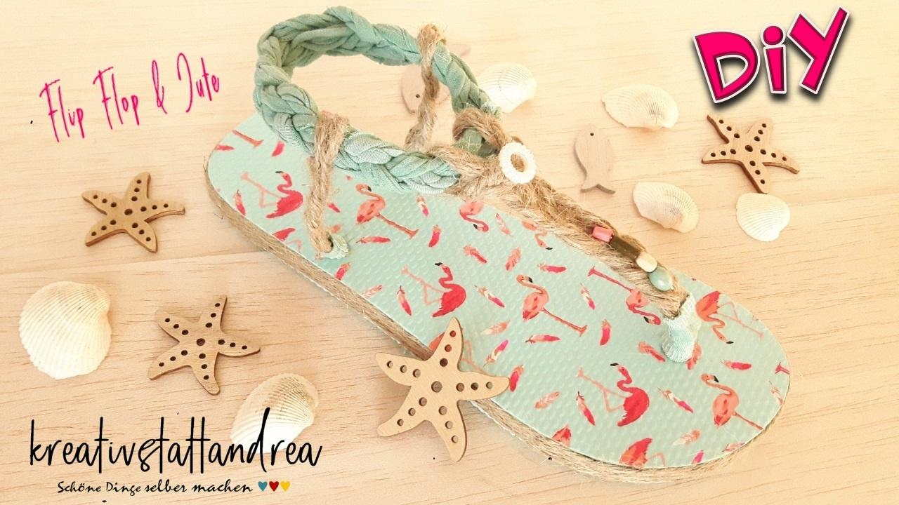 DIY – Flip Flops Sandalen für den Sommer