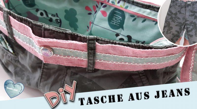 DIY – Tasche aus alter Jeans (Hose) nähen – Ganz ohne Schnittmuster
