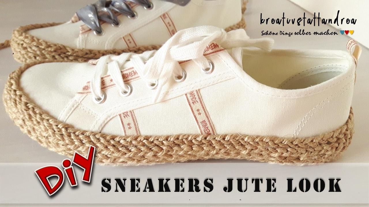 DIY Espadrilles – Sneakers im Jute Look