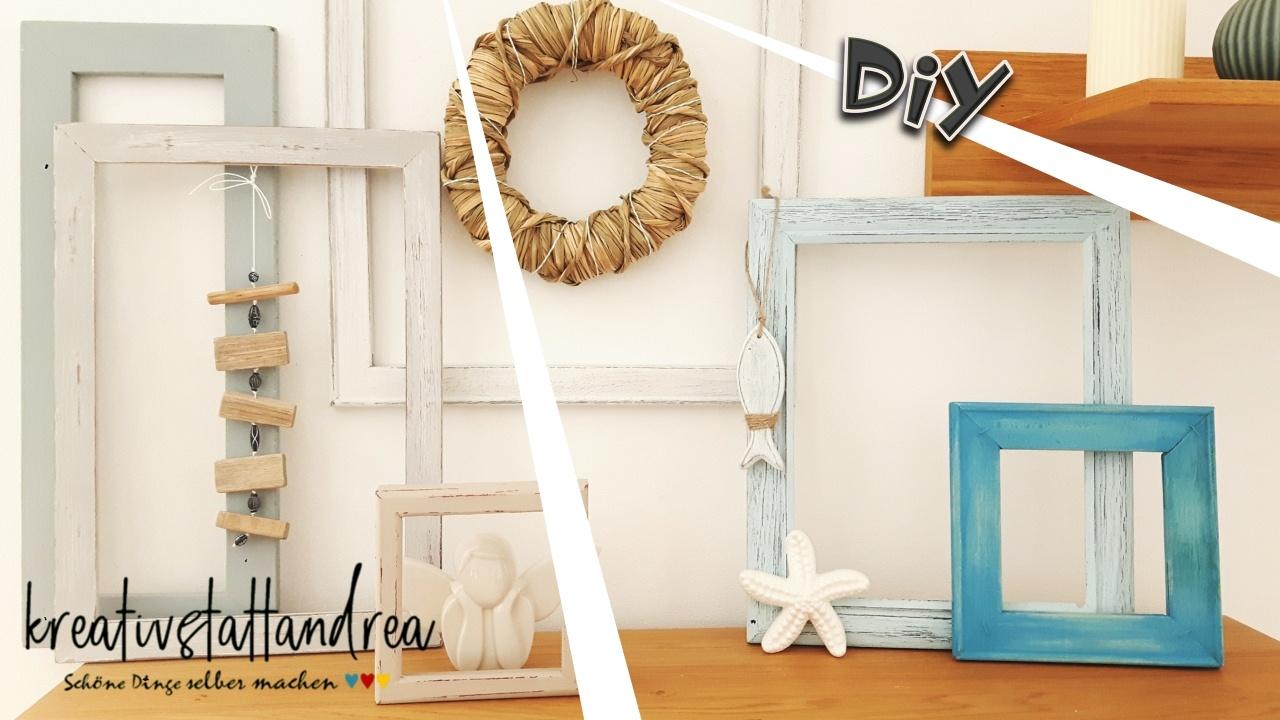 DIY – DEKO Bilderrahmen Shabby Chic / Landhausstil