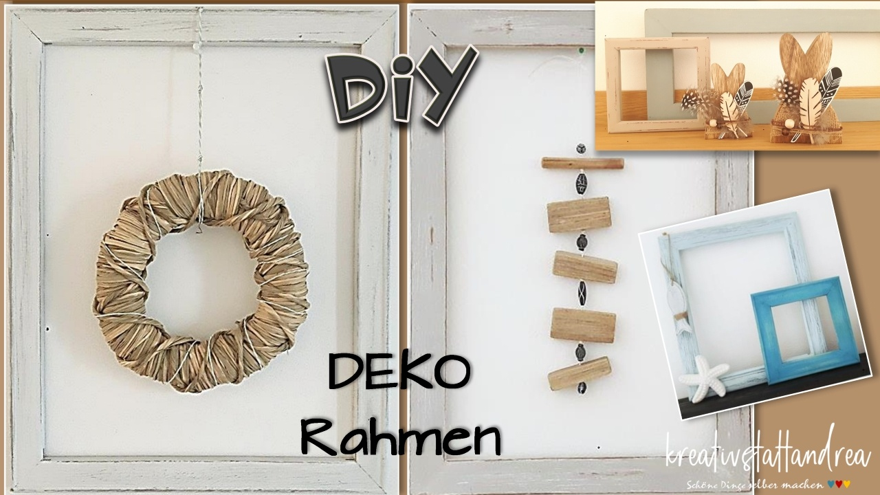 diy deko bilderrahmen shabby chic landhausstil kreativstattandrea diy sch ne dinge. Black Bedroom Furniture Sets. Home Design Ideas