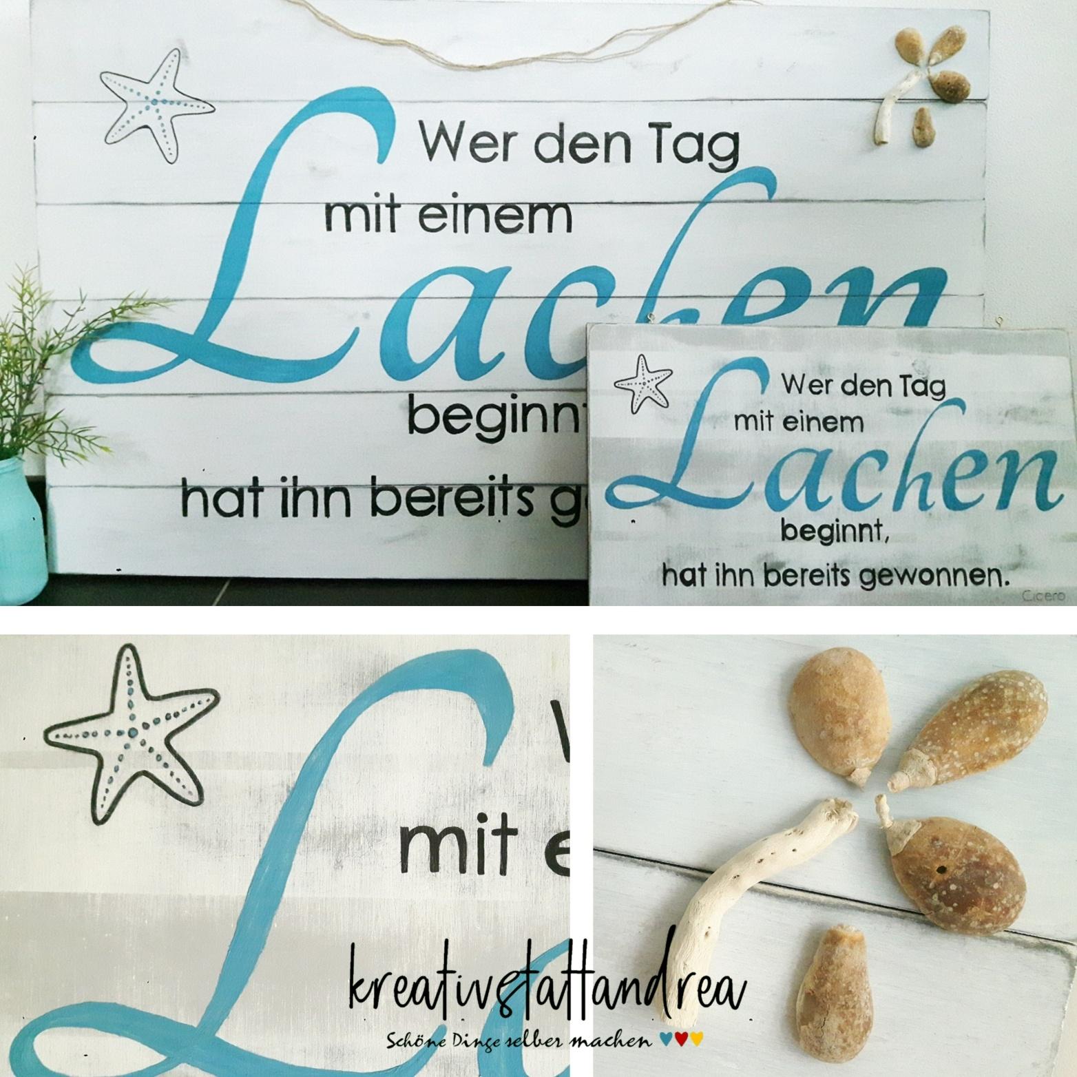 DIY – Holzschild mit Schrift und Spruch selber machen ...