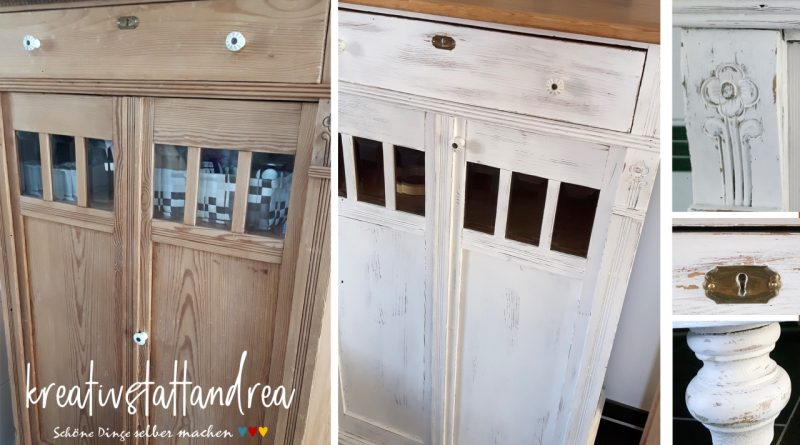 diy shabby chic alte m bel mit kreidefarbe streichen kreativstattandrea diy sch ne dinge. Black Bedroom Furniture Sets. Home Design Ideas