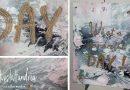 DIY – Fluid-Painting mit Kreidefarbe (Fließtechnik) und Spruch