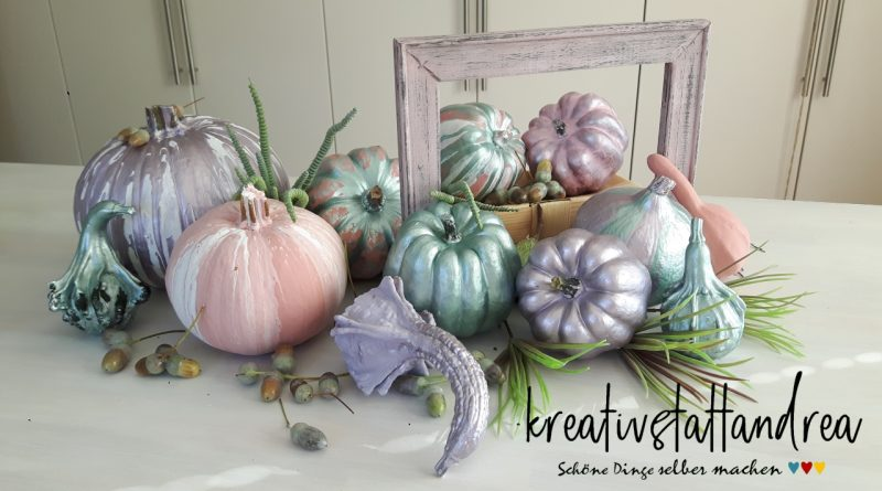 DIY – Herbstdeko Kürbisse gestalten mit Fluid-Painting