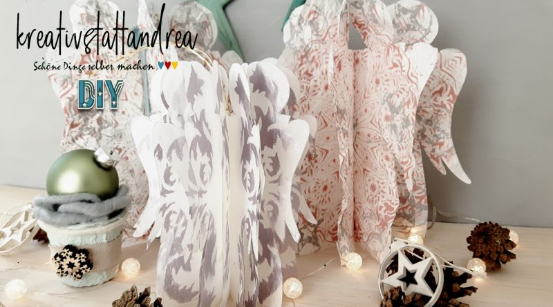 DIY – Engel aus Butterbrot Tüten Papier basteln – schnell und einfach