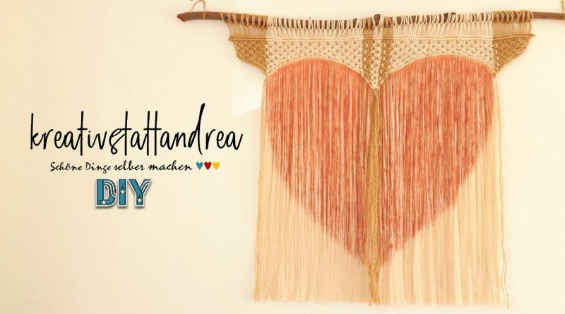 DIY – Makramee Wandbehang Herz + Kreidefarbe | Landhausstil