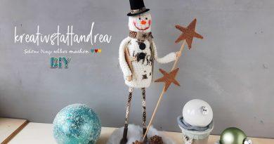 DIY Häkeln – XL Schneemann mit langen Beinen