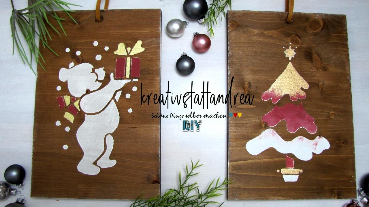 Hervorragend DIY – Weihnachtsgeschenke aus Holz selber machen TB48