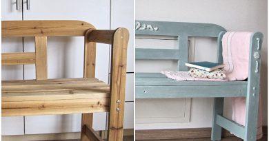DIY – Holzbank streichen | Möbel mit Ornamenten verzieren