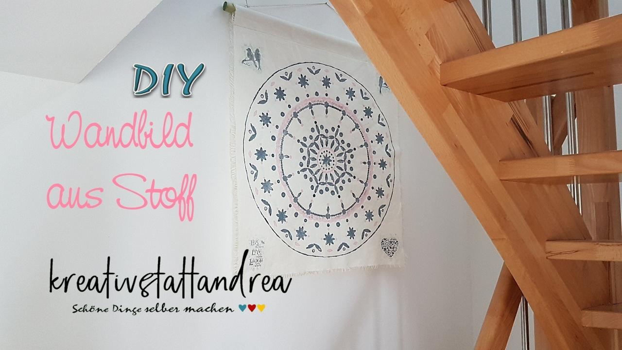 DIY – Wandbild auf Stoff   Mandala   Kreidefarbe