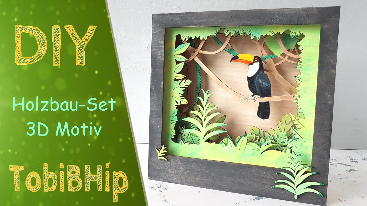 DIY – Basteln Holzbau-Satz 3D Motiv | Story Box