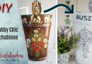 DIY – Schirmständer neu gestalten | Landhausstil + Shabby Chic