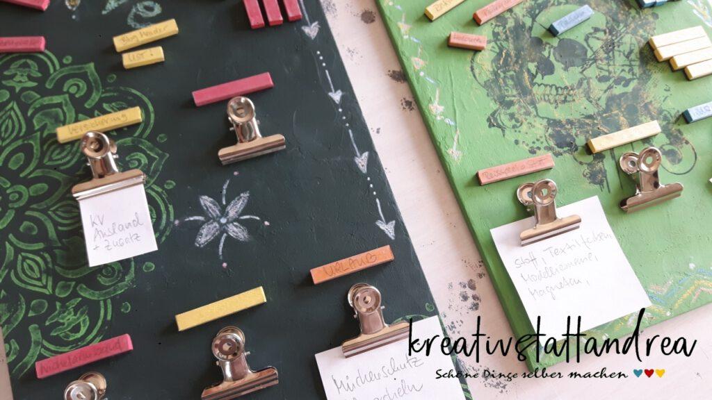 Hervorragend DIY – Orgaboard | Magnettafel | Kreidetafel |Memoboard | Anleitung LO29