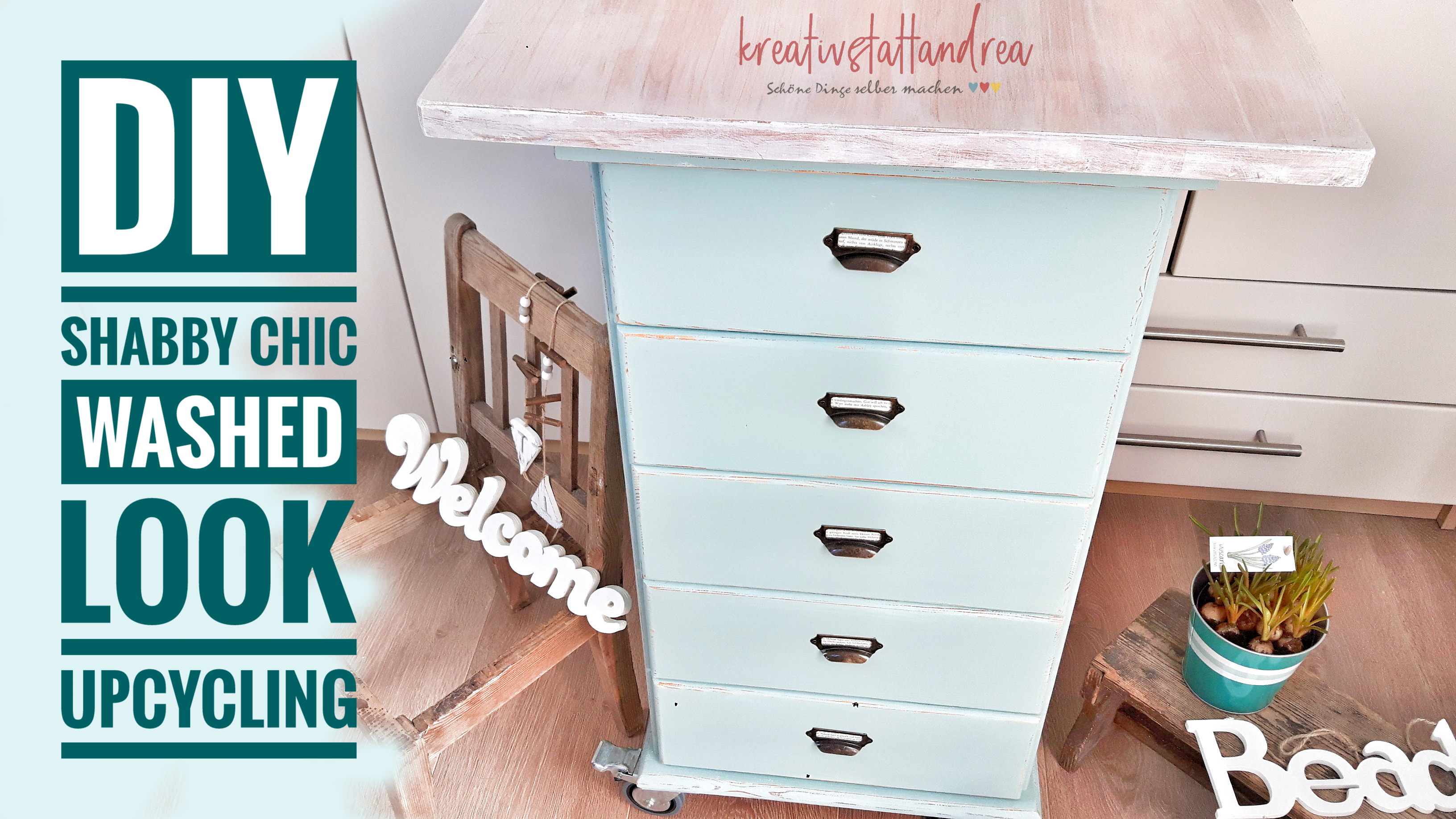 DIY Möbel Upcycling – Shabby Chic und White Wash Look