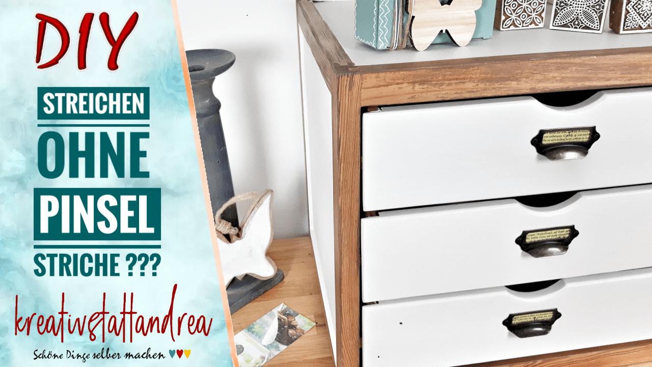 Möbel streichen ohne Pinselstriche und ohne Schleifen?