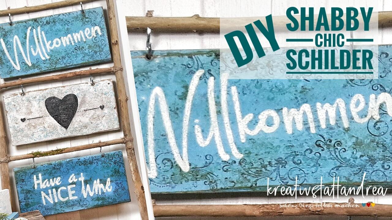 DIY – Holzschilder im Shabby Chic / Beach Look mit SaltWash