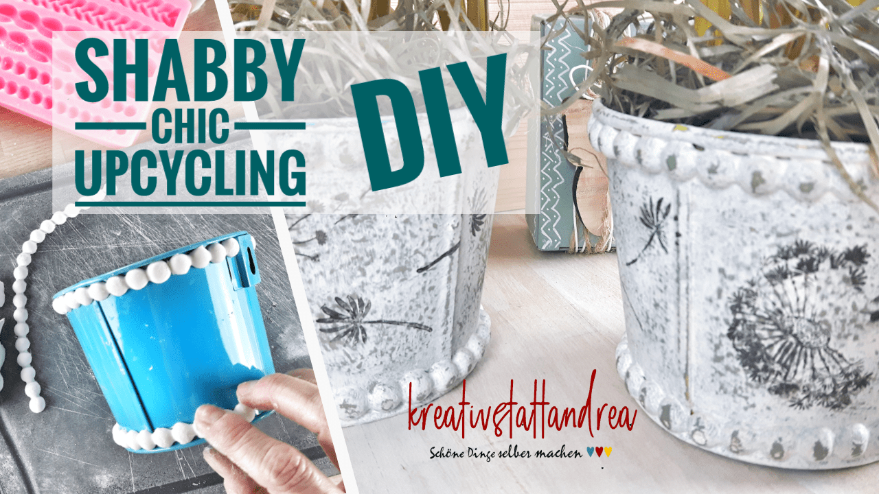 DIY Shabby Chic Blumentopf | Upcycling mit Decor Moulds