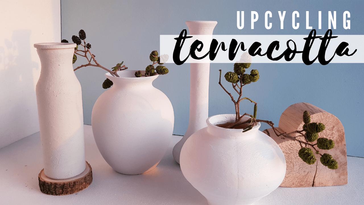 Upcycling – Vasen im Terracotta Look