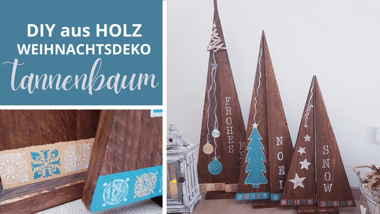 DIY – Tannenbaum aus Holz selber bauen