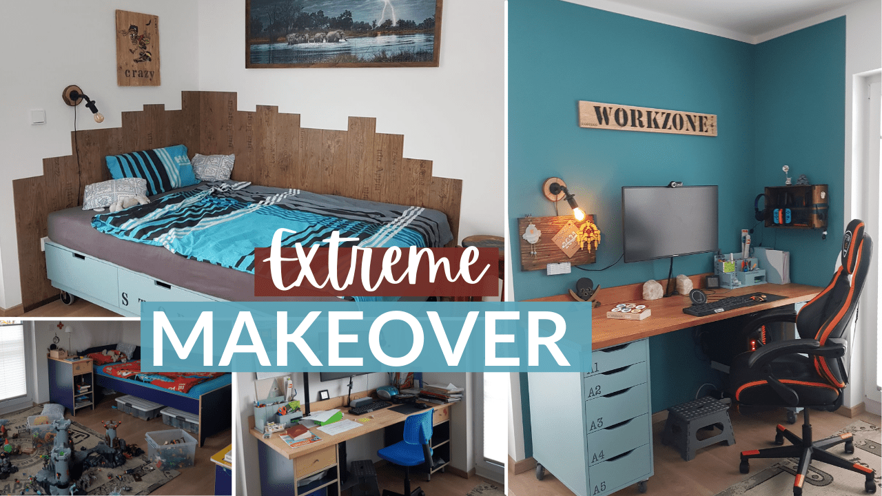 Extremes Room Makeover – Jugendzimmer – Industrial Retro Style